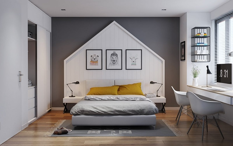 Decor phòng ngủ với tranh nghệ thuật