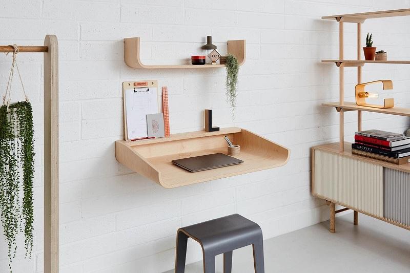 Bàn làm việc gỗ ván ép plywood tối giản