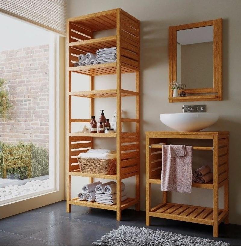 Kệ gỗ ván ép plywood cho phòng tắm