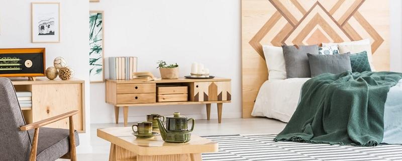 Kệ tủ gỗ ván ép plywood cho phòng ngủ