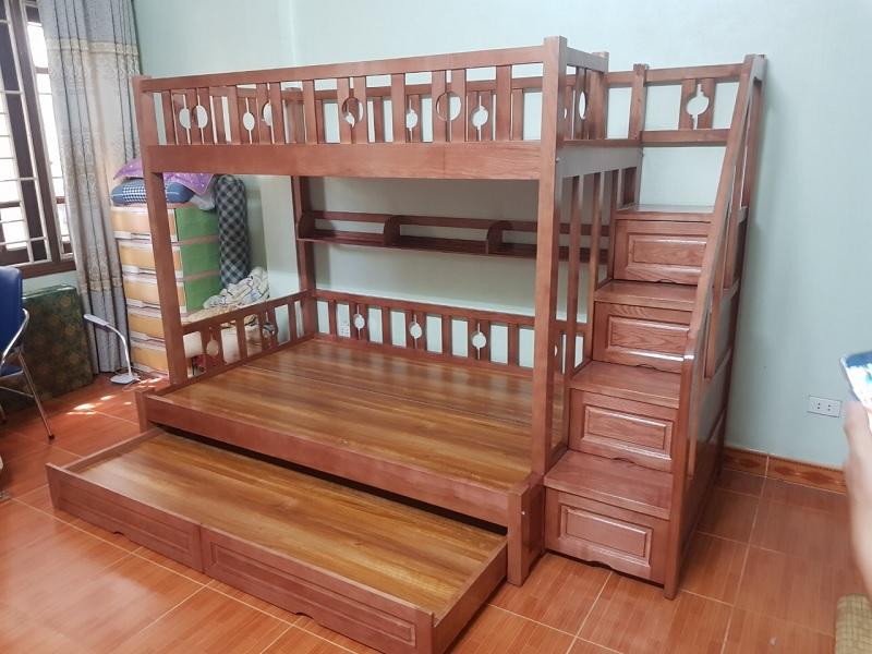 Giường tầng gỗ Ash cho không gian hiện đại