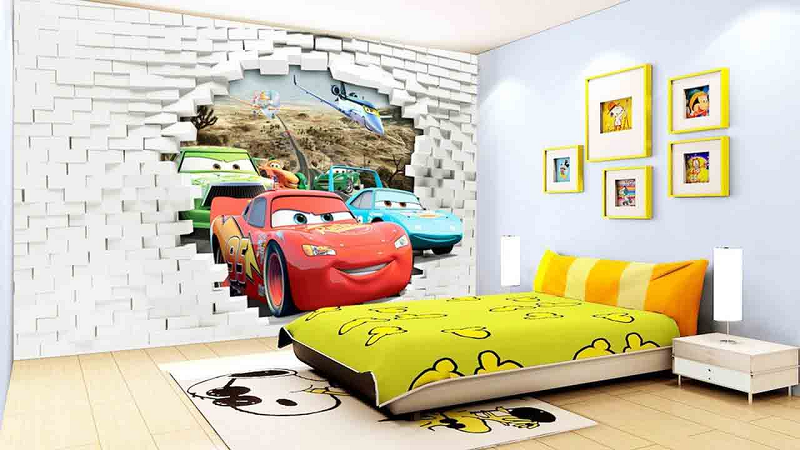 Mẫu phòng ngủ dành cho bé trai với hình ảnh sinh động, ngộ nghĩnh