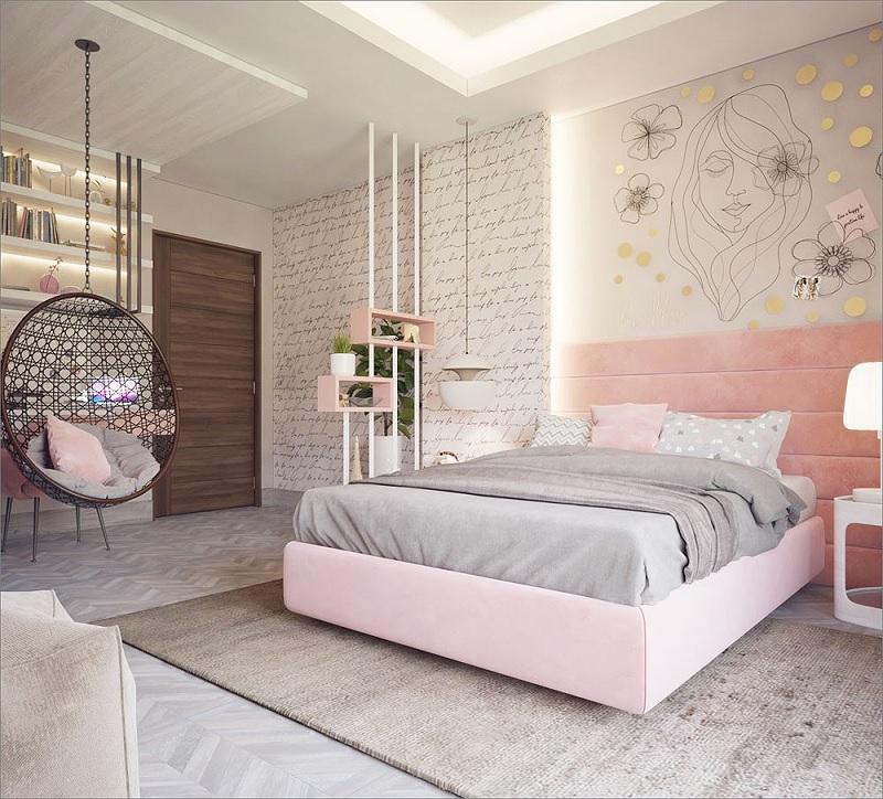 """Mẫu phòng ngủ dành cho các """"nàng thơ"""" với vẻ đẹp quyến rũ, xao xuyến lòng người"""