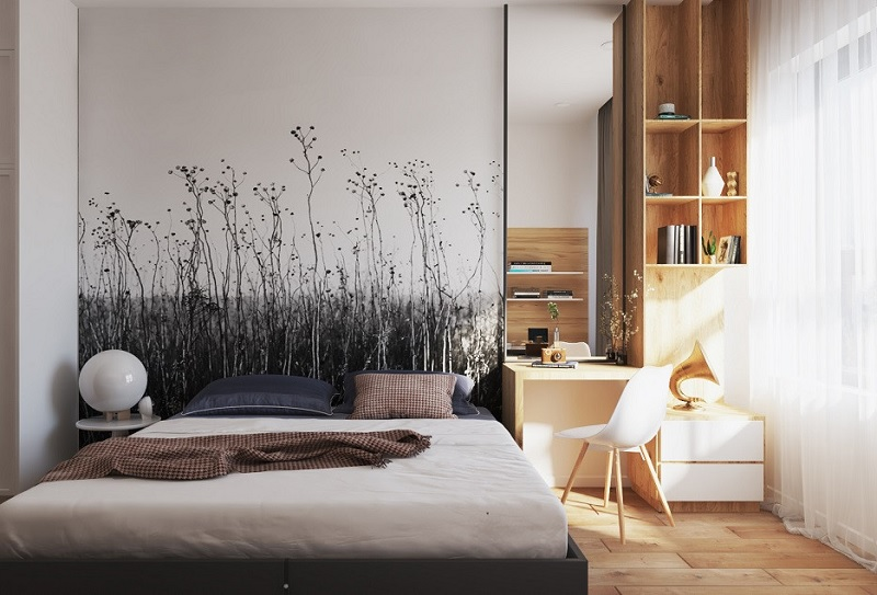 Thỏa thức thể hiện tài năng hội họa lên các bức tường phòng ngủac