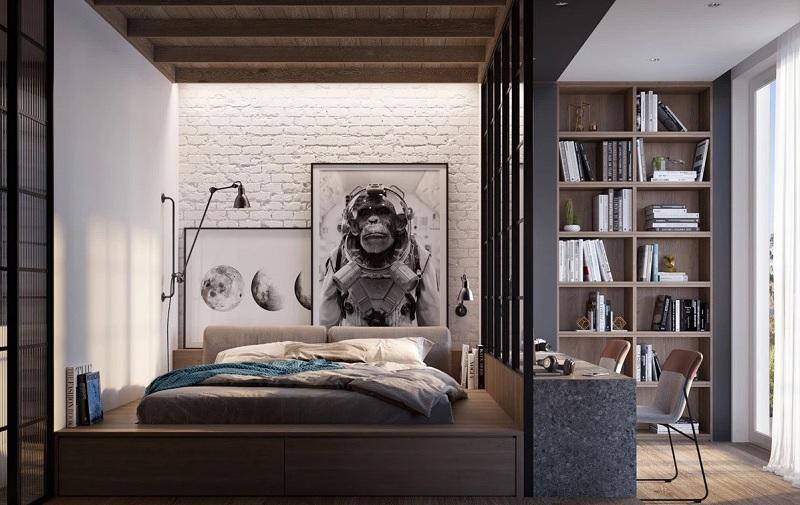 Mẫu phòng ngủ hiện đại dành riêng cho các chàng trai