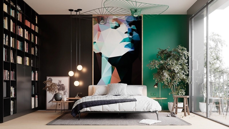 Phác thảo hình vẽ trang trí phòng ngủ mà bạn muốn ra giấy. Và bắt đầu triển khai chúng lên bức tường mà bạn mong muốn nhé.