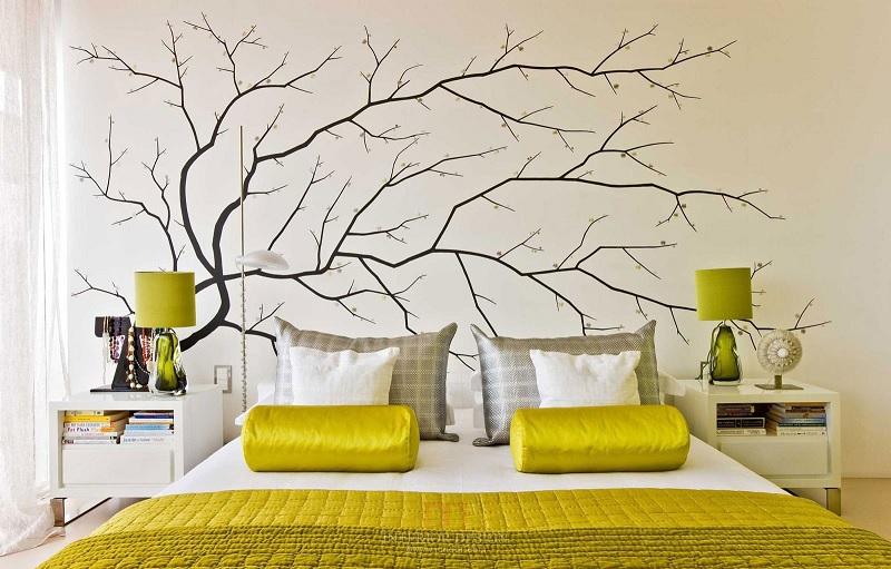 Hình vẽ trang trí phòng ngủ dành cho các cặp vợ chồng trẻ