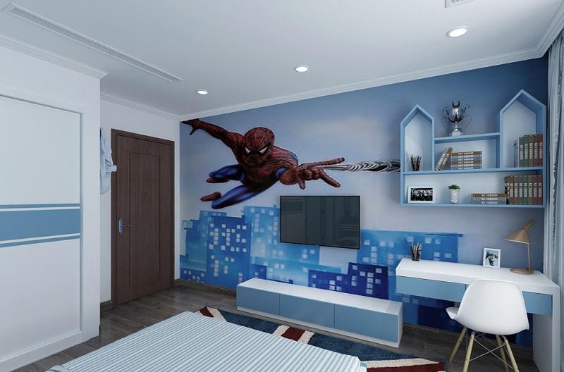 Trang trí phòng ngủ của bé với hình ảnh nhân vật người nhện trong Advengers