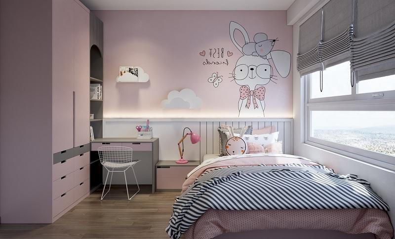 Mẫu phòng ngủ đáng yêu cho các bé gái