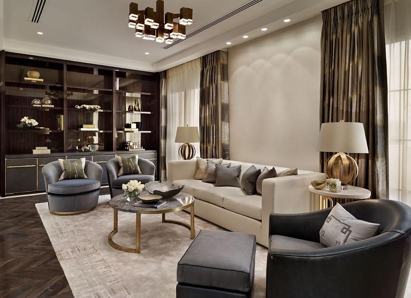 Mẫu thiết kế phòng khách tân cổ điển cho biệt thự
