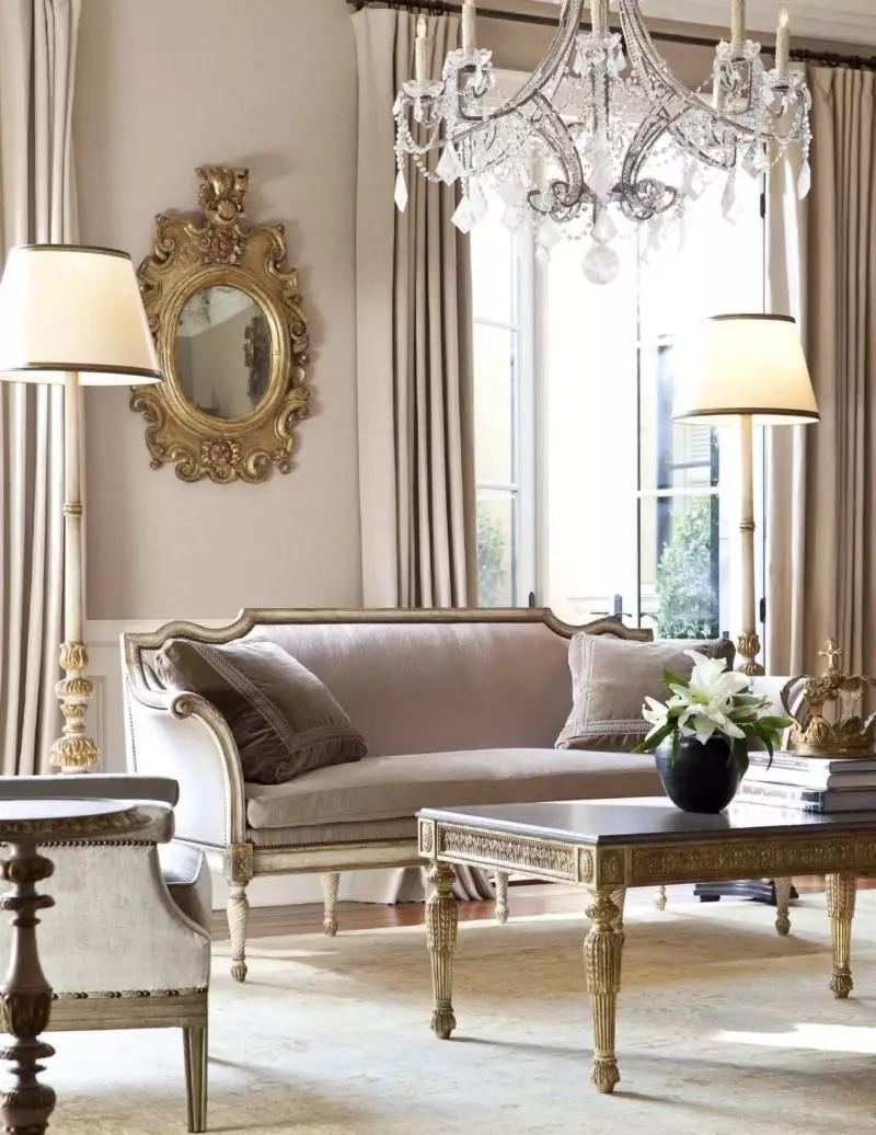 Với nhà phong cách cổ điển, chất liệu nội thất cổ điển có sự chặt chẽ hơn về chất liệu.