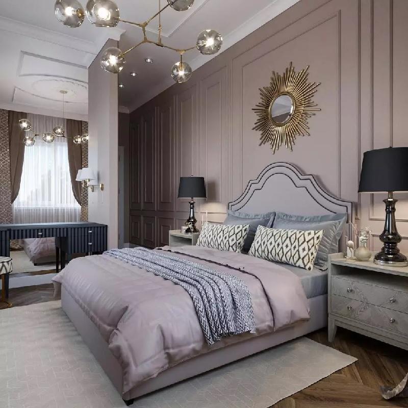 Mẫu phòng ngủ với nội thất tân cổ điển