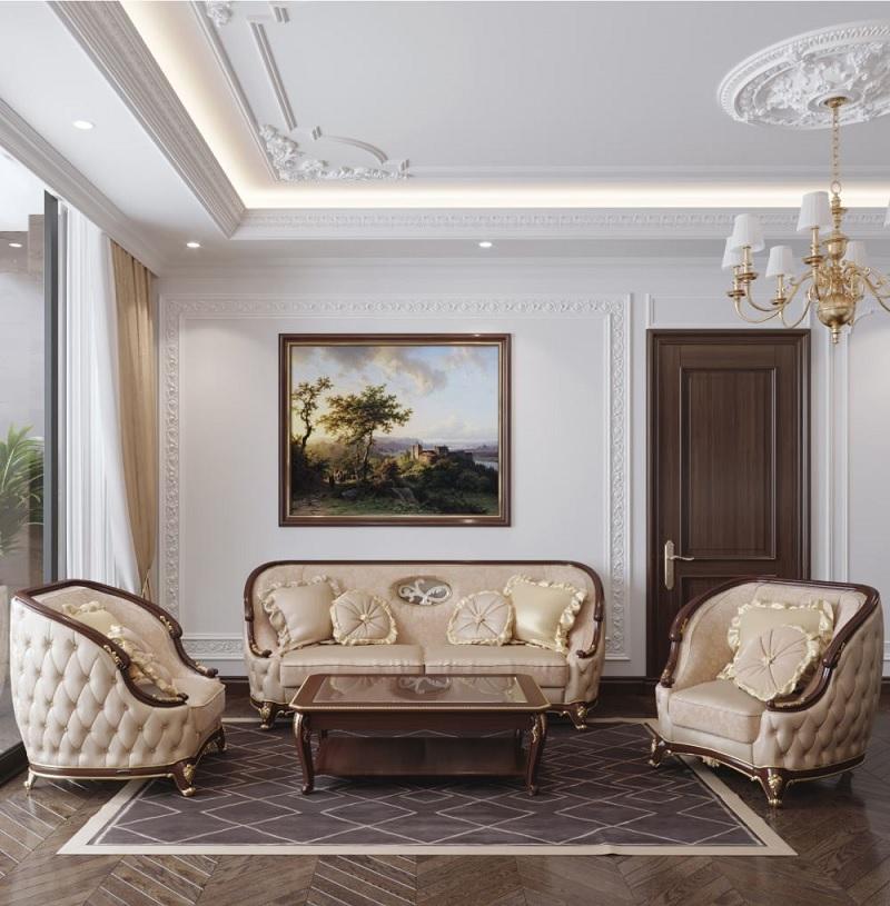 Kiểu dáng bàn ghế phong cách tân cổ điển thường ẩn ý một nét quý tộc rất riêng.