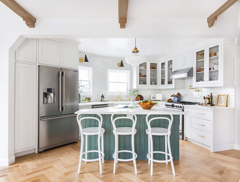 Ý tưởng 3: Ý tưởng thiết kế nhà bếp với tone trắng tinh khiết