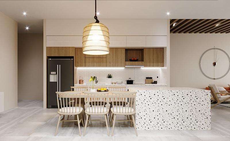 Ý tưởng 5: Mẫu thiết kế phòng bếp tiện nghi cho nhà cấp 4