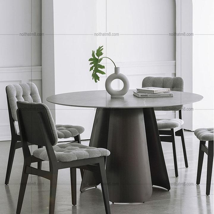 Mẫu bàn tròn chân trụ nguyên khối với vẻ đẹp tinh tế