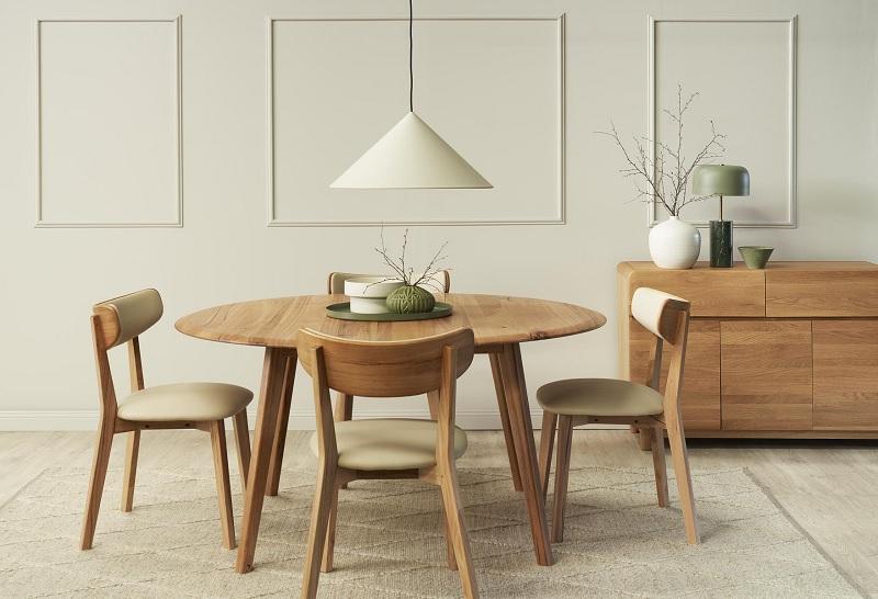 Mẫu bàn tròn 4 chân dành cho mọi gia đình