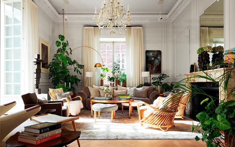 Từ nội thất bàn ghế cho đến phụ kiện trang trí lại có sự giản đơn, mộc mạc và vô cùng giản dị.