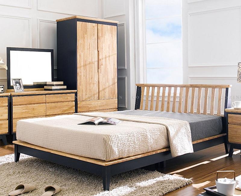 Mẫu giường ngủ với màu sắc gỗ hiện đại