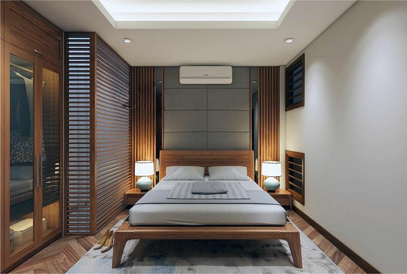 Mẫu giường ngủ gỗ ấm áp, giúp cải thiện giấc ngủ