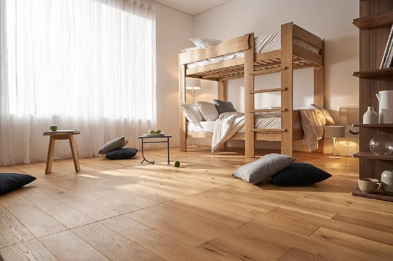 Mẫu phòng ngủ gỗ ghép cho các bé