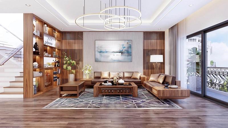 Tấm thảm và bức tranh chính là một điểm nhấn sáng tạo cho không gian