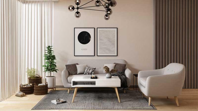 Mẫu thiết kế phòng khách với vẻ đẹp hiện đại nhẹ nhàng và giản dị