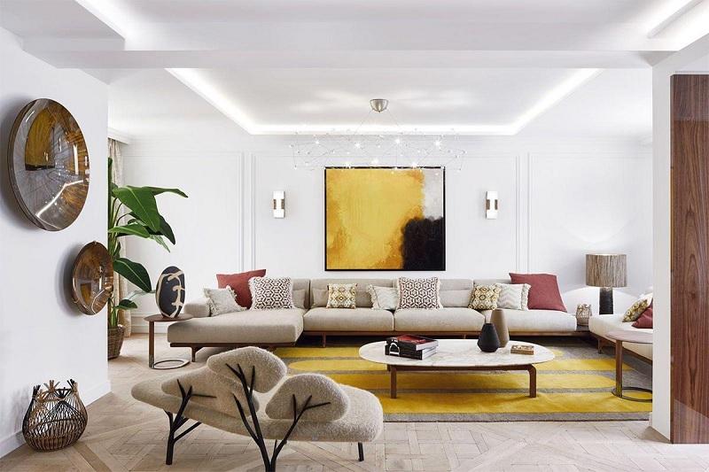 Mẫu thiết kế phòng kháchmang dáng vẻ nhẹ nhàng, nông thôn ấm áp, giản dị