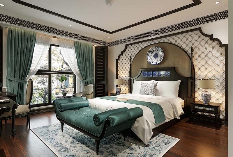 Ý tưởng 4: Mẫu phòng ngủ Á Đông sang trọng, quý phái