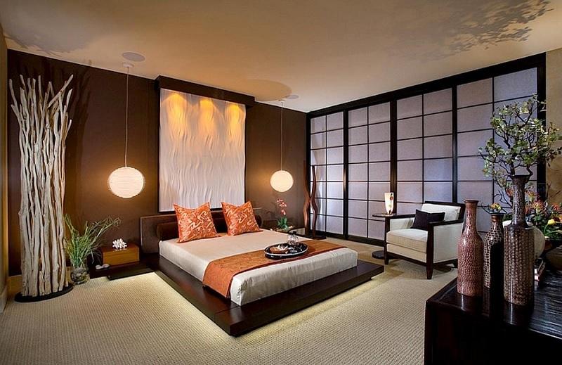 """Ý tưởng 5: Mẫu phòng ngủ Á Đông đậm chất """"Nhật"""""""