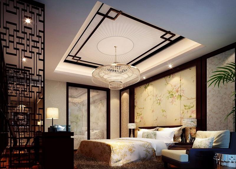Ý tưởng 3: Mẫu phòng ngủ Á Đông thanh bình