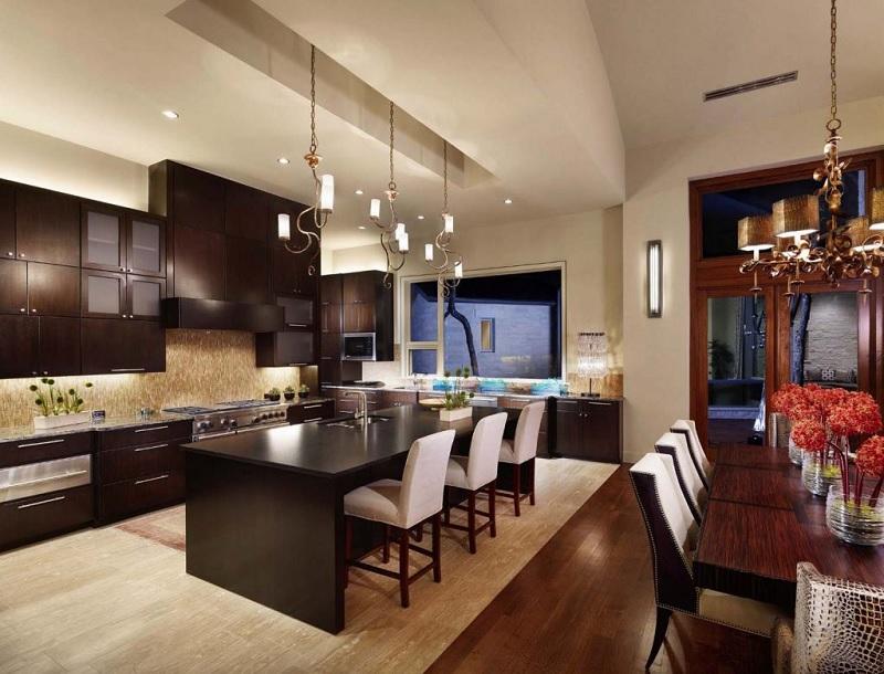 Ý tưởng 5: Mẫu phòng bếp chung cư Á Đông hợp thời
