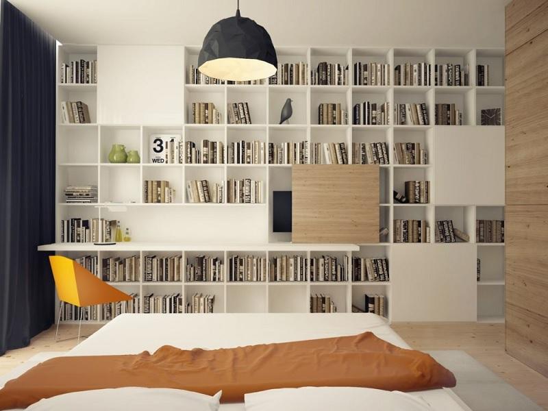 Kệ, tủ sách dáng đứng mẫu âm tường tạo cảm hứng sáng tạo