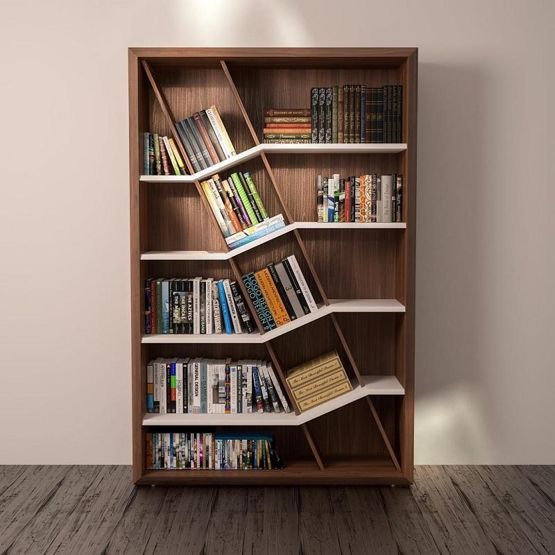 Kệ, tủ sách đứng tạo cảm hứng nghệ thuật