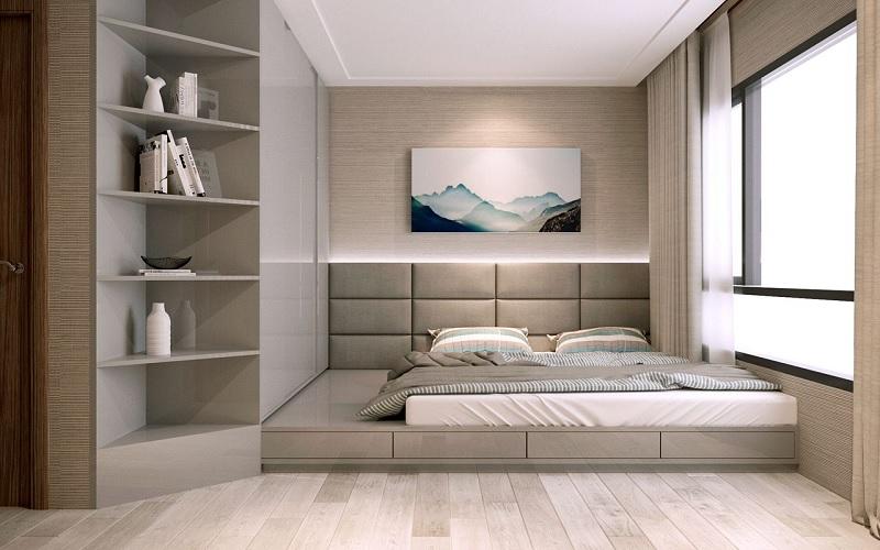 Kệ, tủ sách đứng thông minh tích hợp với tủ quần áo cho phòng ngủ