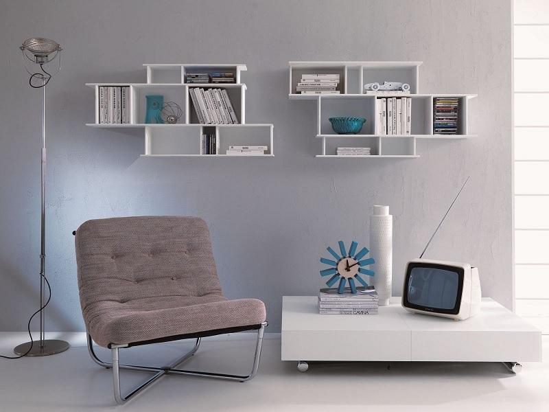 Kệ sách treo tường hình chữ nhật gọn gàng thoải mái cho việc đọc sách của bạn