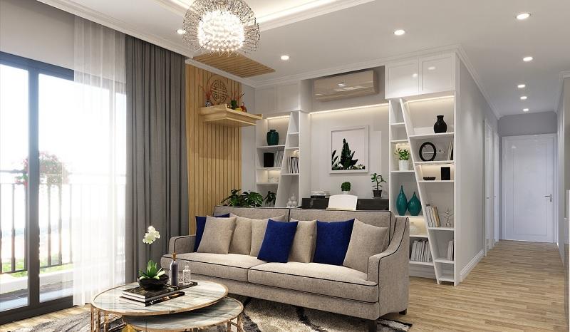 Mẫu tủ trang trí phòng khách Châu Âu mang đến sự khác biệt