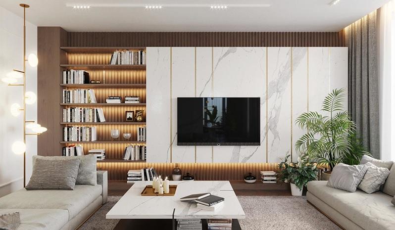Mẫu phòng khách chung cư đẹp, bắt mắt thu hút mọi ánh nhìn