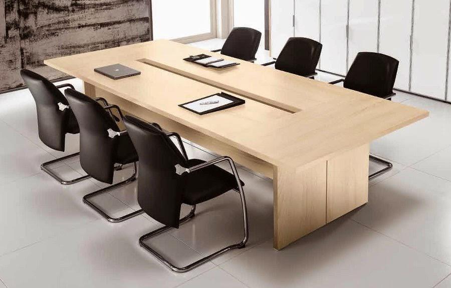 Một số mẫu bàn làm việc, bàn họp được làm từ chất liệu gỗ veneer