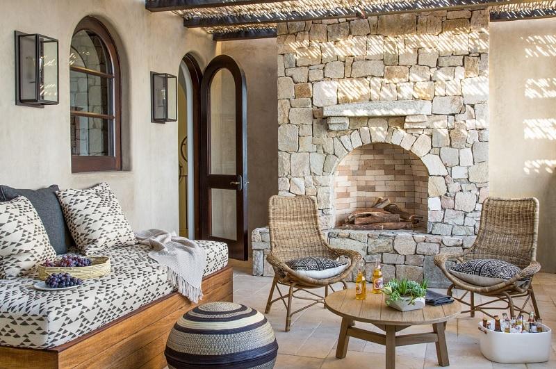 Mẫu thiết kế nội thất phòng khách Địa trung hải