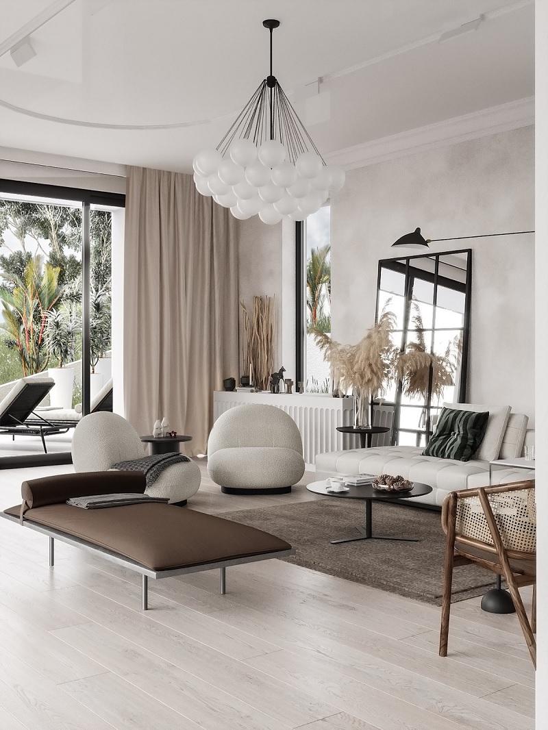 Nội thất trong phong cách Địa Trung Hải thường mang đậm nét đẹp mộc mạc và thoải mái.