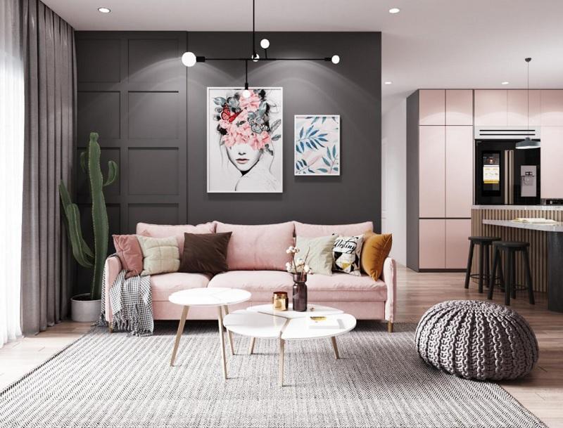 Mẫu phòng khách đương đại nhuốm màu thời đại mới