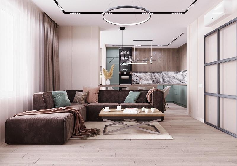 Đồ nội thất theo phong cách thiết kế đương đại tập trung sử dụng thiết kế hình khối.
